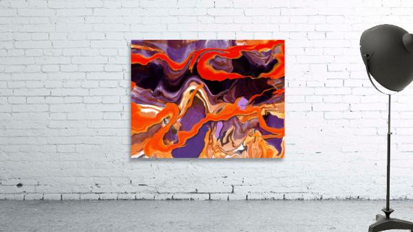 Flaming Paint Pour
