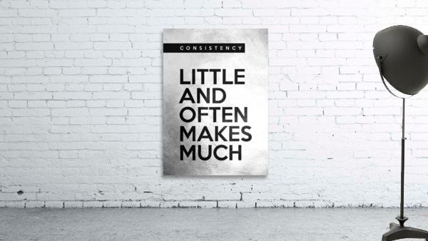 little and often Motivational Wall Art