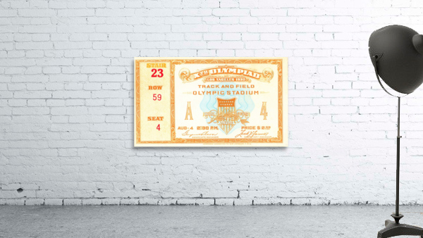 1932 Olympic Track and Field Ticket Stub Art