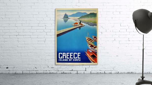 Island of Corfu, Greece Vintage Travel Poster