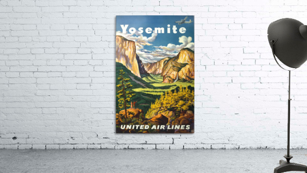 Yosemite United Air Lines travel poster