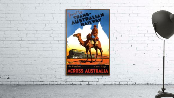 Trans Australian Railway travel poster