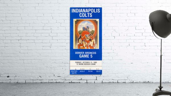 1985 Denver Broncos vs. Indianapolis Colts | Row 1