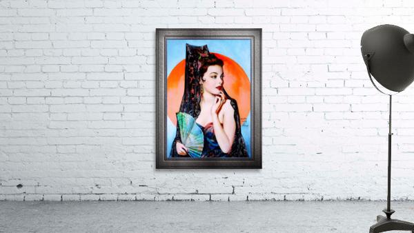 Gene Tierney as Lola Montez by Henry Clive Vintage Xzendor7 Old Masters Art Deco Reproductions