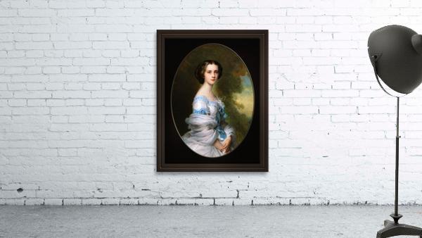 Melanie Renouard de Bussiere by Franz-Xaver Winterhalter Fine Art Xzendor7 Old Masters Reproductions
