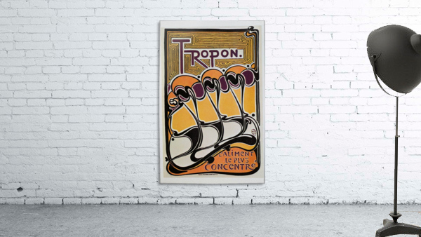 Vintage poster for Tropon food concentrate, 1899