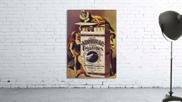 Admiral Cigarettes National Cigarette Tobacco Co Ad Poster 1890