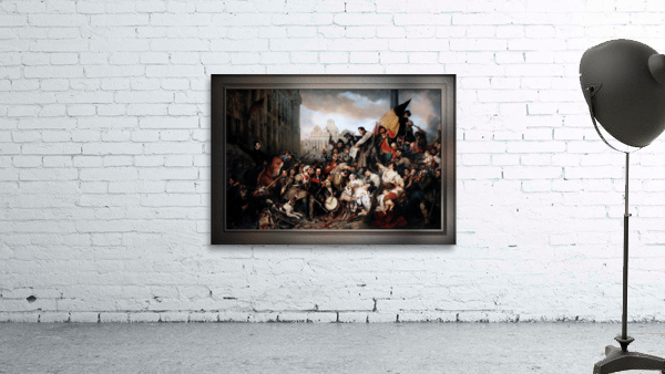 Episode of the September Days 1830 by Gustave Wappers Classical Fine Art Xzendor7 Old Masters Reproductions
