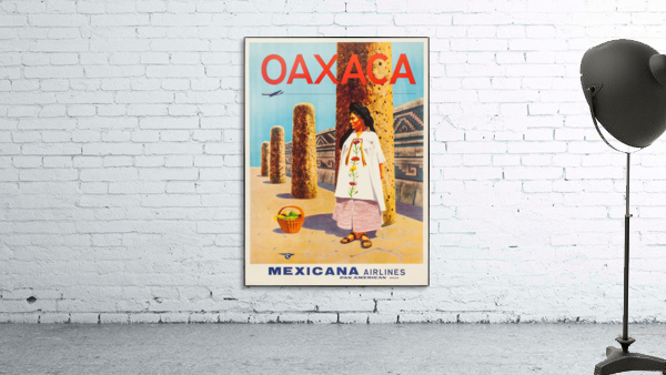 Mexicana Airlines Oaxaca travel poster