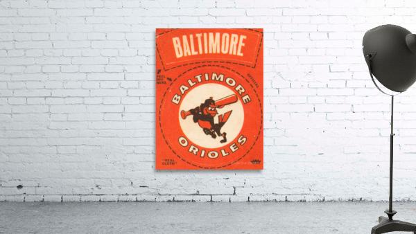 1969 Baltimore Orioles Fleer Cloth Patch Art | Row 1