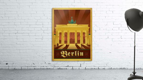 Berlin Germany travel poster