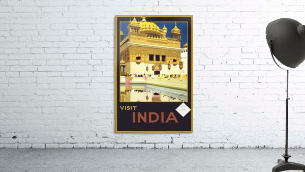 Visit India vintage travel poster