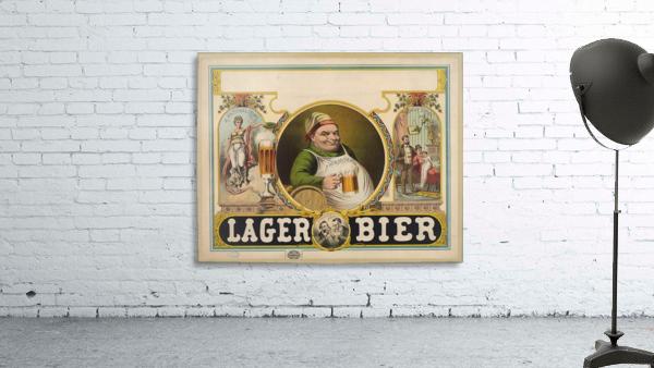Lager Bier Vintage Poster