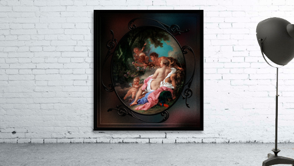 Angelica and Medoro by Francois Boucher Classical Fine Art Xzendor7 Old Masters Reproductions