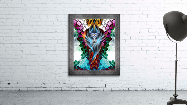 What Dreams Are Made Of GeomatCLR WQ FRAME Fractal Art Cuboid Portrait