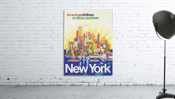 New York American Airlines endless summer travel poster