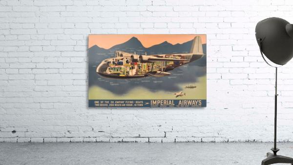 Original Vintage Travel Advertising Poster for Imperial Airways Empire