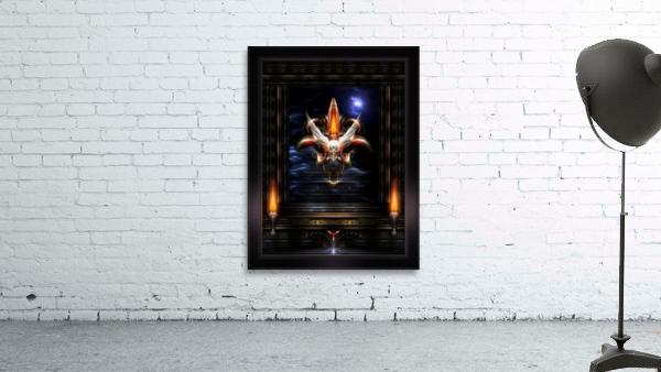 Akrellian Torch Fire Portrait Fractal Art Composition by Xzendor7