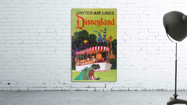 United Air Lines the official airline to Disneyland poster