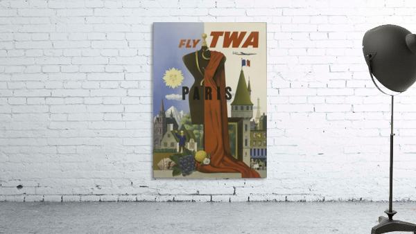 Fly TWA Paris Tourism Poster