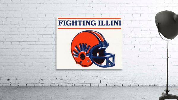 Retro Illinois Football Helmet Art