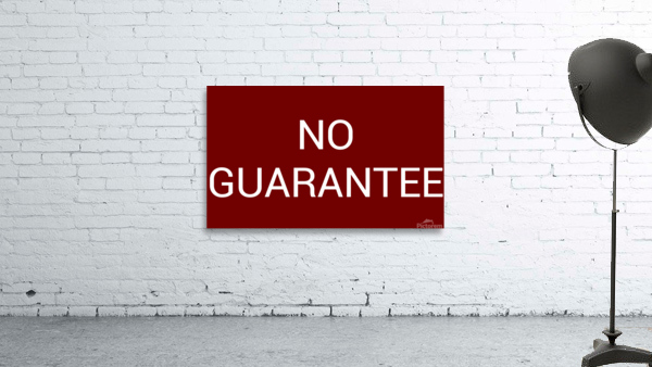 NO GUARANTEE blood red by Lenie Blue