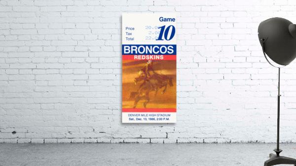 1986 Denver Broncos vs. Washington