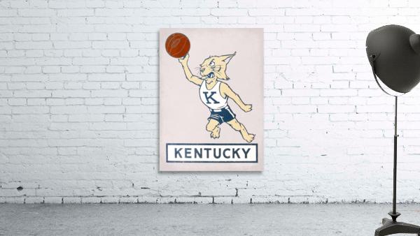 Vintage Kentucky Wildcat Basketball Art