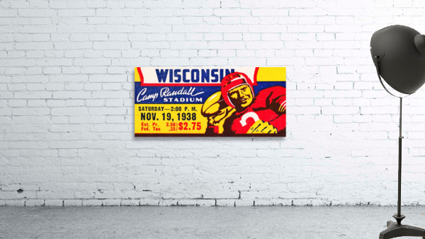1938 Wisconsin Badgers Football Ticket Remix Art