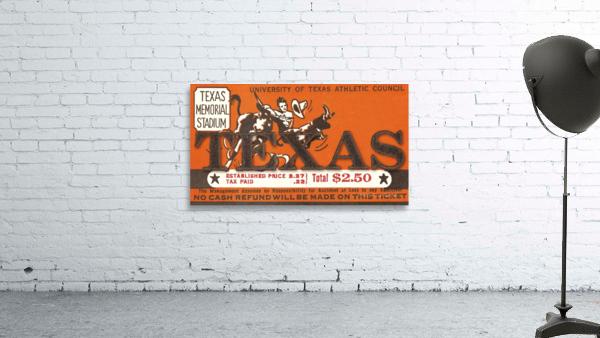 Vintage Thirties Texas Longhorn Football Ticket Remix Art