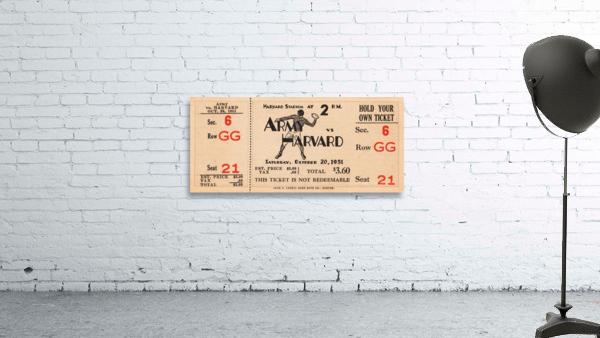 1951 Army vs. Harvard Football Ticket Art