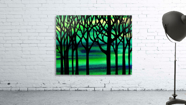 Abstract Spring Forest