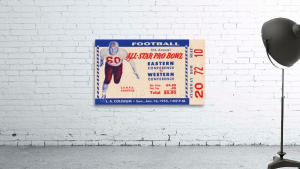 1955 Pro Bowl Football Ticket Stub Art