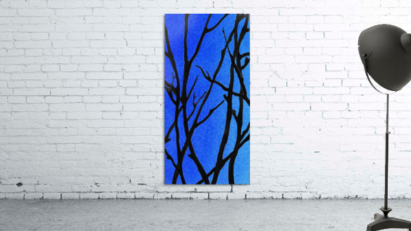 Ultramarine Forest Winter Blues I