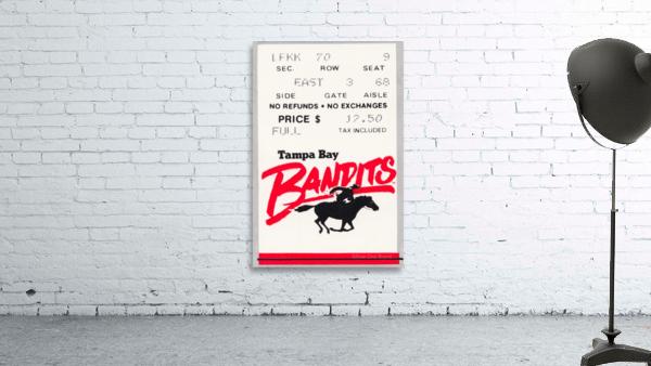 1985 Tampa Bay Bandits Ticket Stub Art