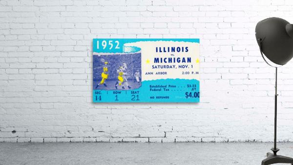 1952 Illinois vs. Michigan Football Ticket Stub Art