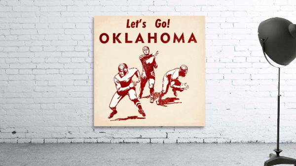 1952 Vintage Oklahoma Football Art