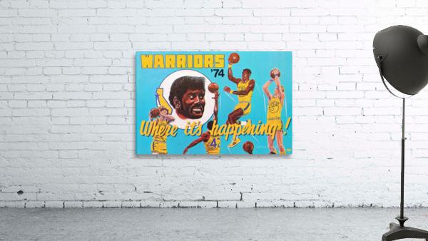 1974 Golden State Warriors Retro Remix Art
