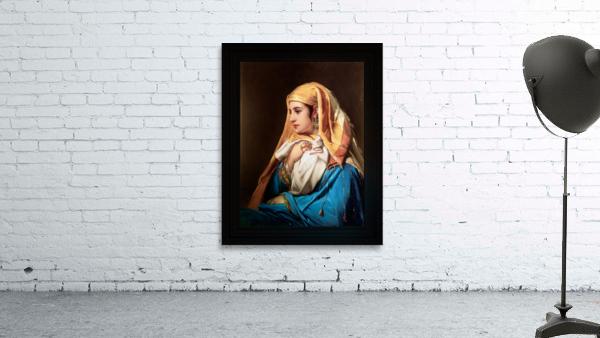 Contemplation by Belgian Painter Jean-Francois Portaels Classical Fine Art Xzendor7 Old Masters Reproductions