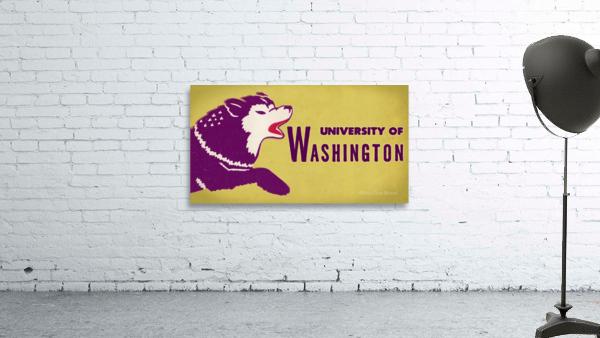 1950 Washington Husky Ticket Remix Art