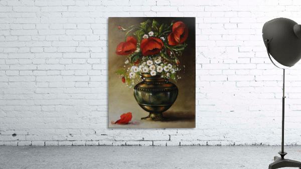poppy bouqet by Vali Irina Ciobanu