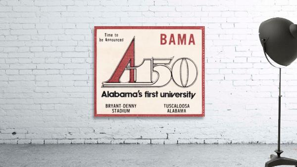 1981 Alabama Football Ticket Stub Art