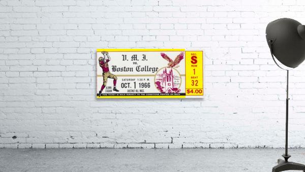 1966 VMI vs. Boston College Eagles Football Ticket Stub Art