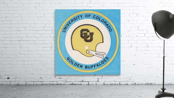 1973 Colorado Buffaloes Football Helmet Art