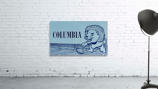1961 Columbia Lions Football Ticket Stub Remix Art