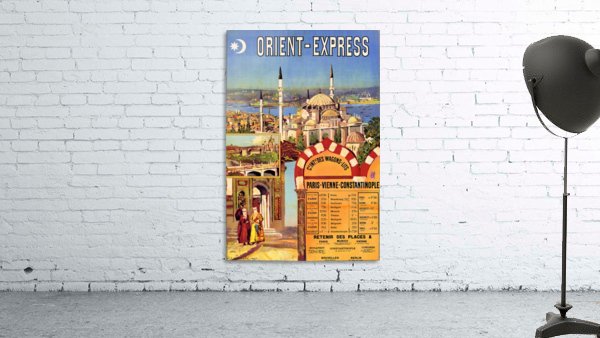 1891 Vintage Travel Poster Orient Express Ochoa y Madrazo