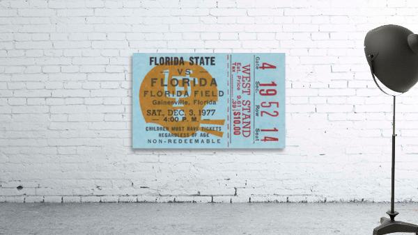 1977 Florida State vs. Florida Football Ticket Art