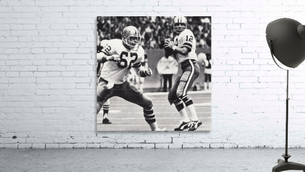 Retro Dallas Cowboys Roger Staubach Photo Art