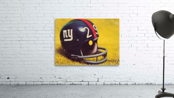 1969 New York Giants Vintage Football Helmet Photo Art