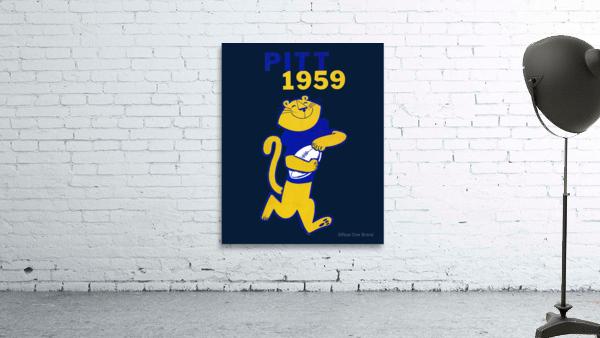 1959 Pitt Panther Vintage Football Art